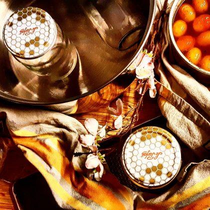 Confiture de Kumquats parfumée à la vanille & au gingembre moulu.